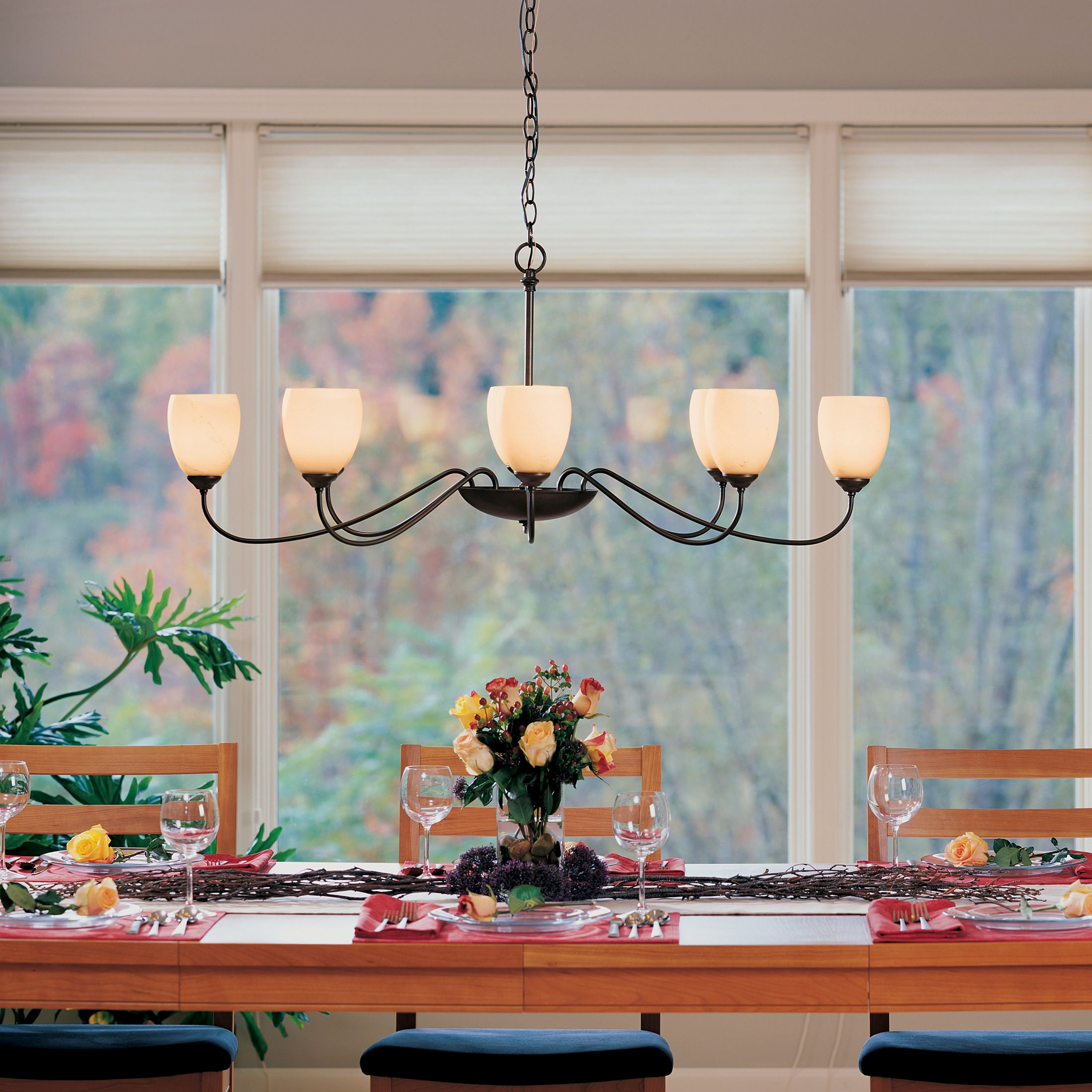 Oval Large 8 Arm Chandelier Hubbardton Forge