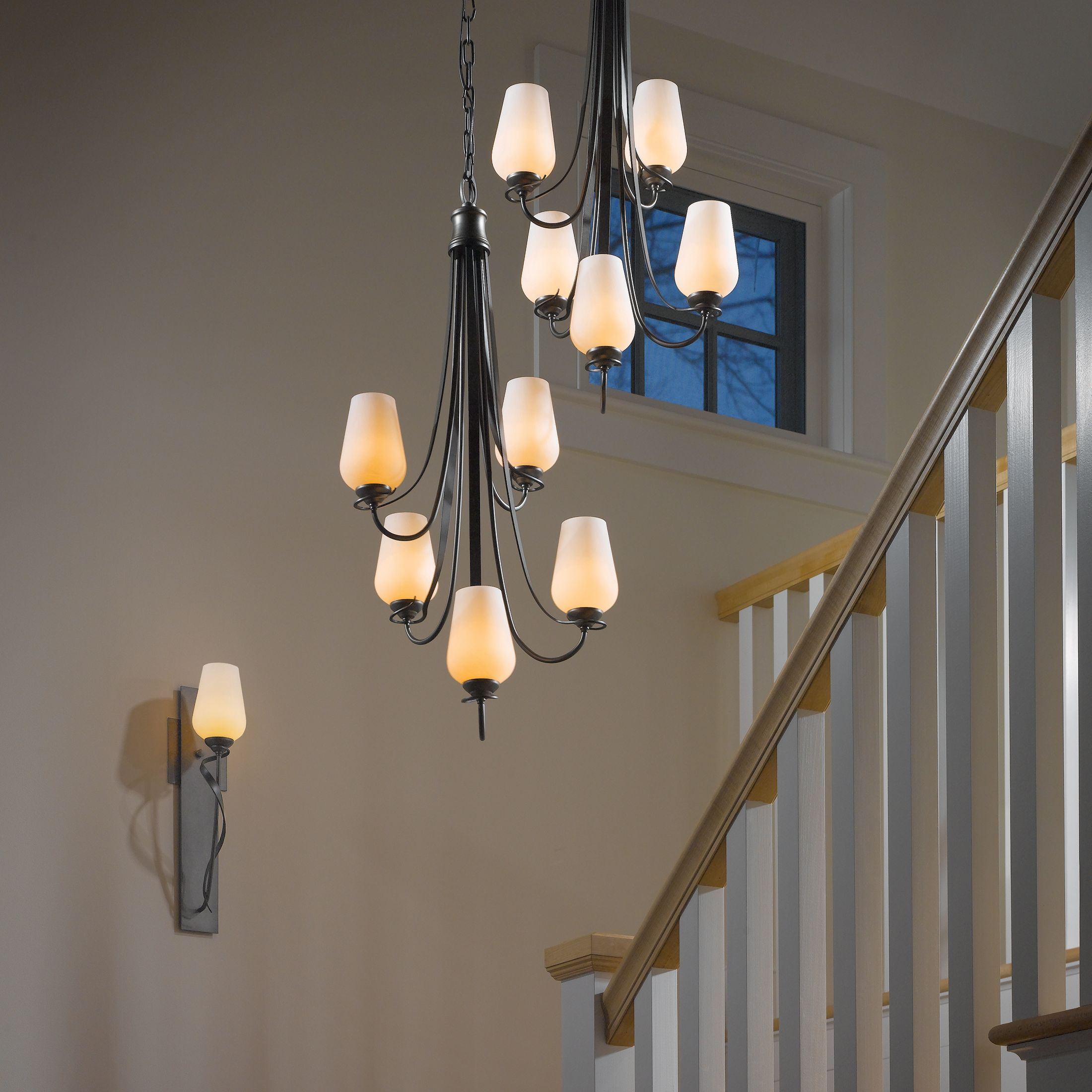 Flora 5 arm chandelier hubbardton forge aloadofball Image collections