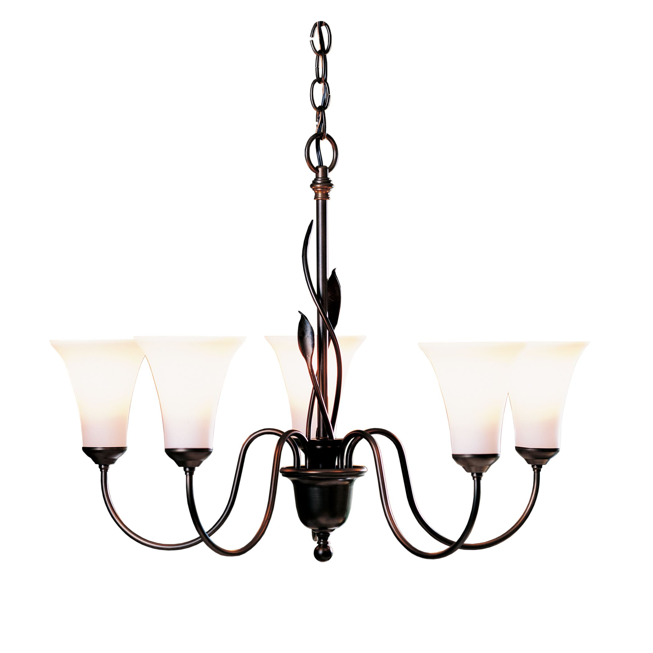 Hubbardton Forge Double Cirque Large: Sweeping Taper 3 Arm Chandelier