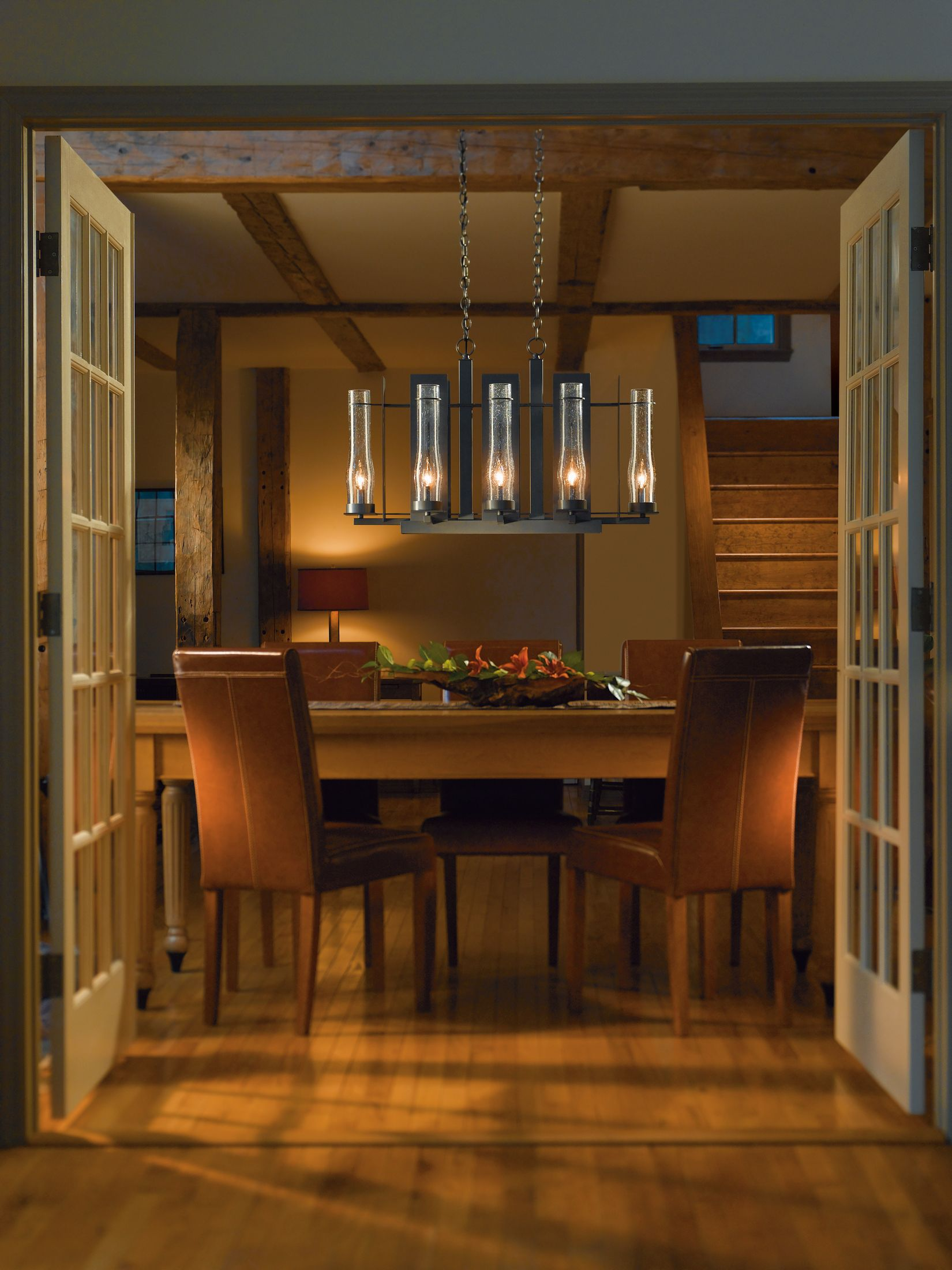 New town large 8 arm chandelier hubbardton forge aloadofball Image collections