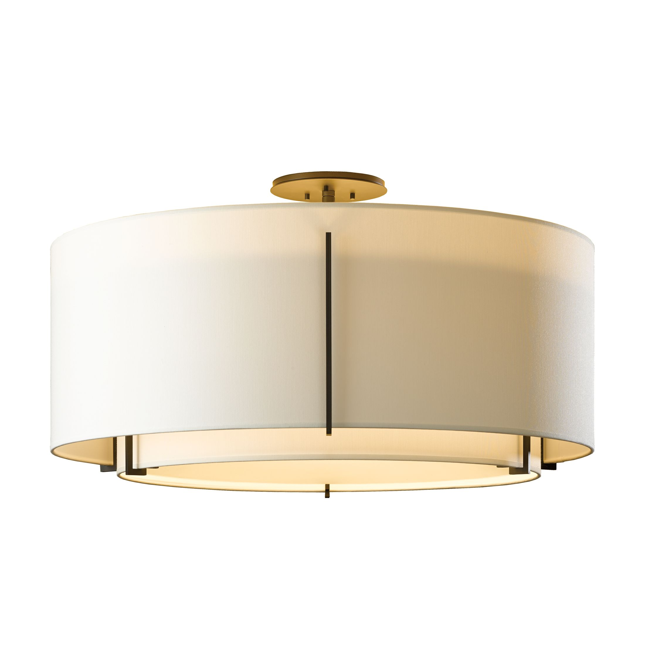 Exos Square Large Double Shade Pendant Hubbardton Forge