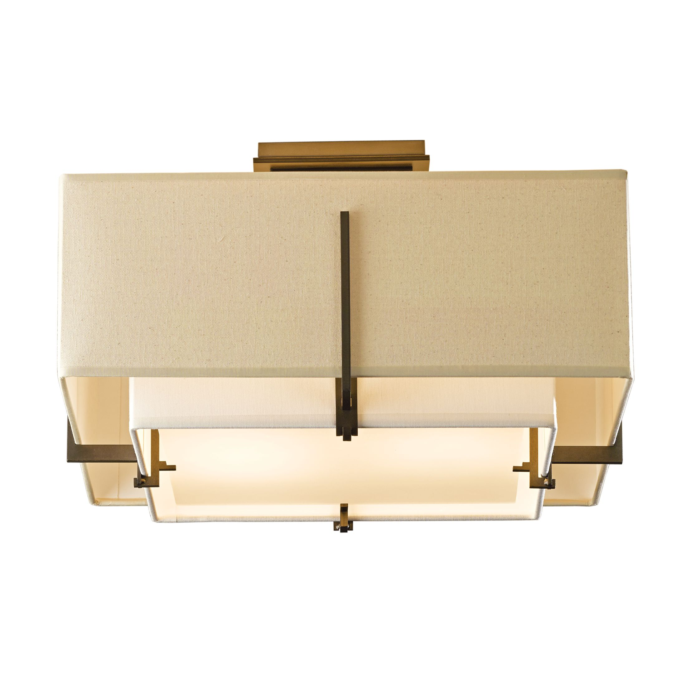 ceiling lamp light pendant rectangle geometric fixture wind lamps bronze archerlamps lighting