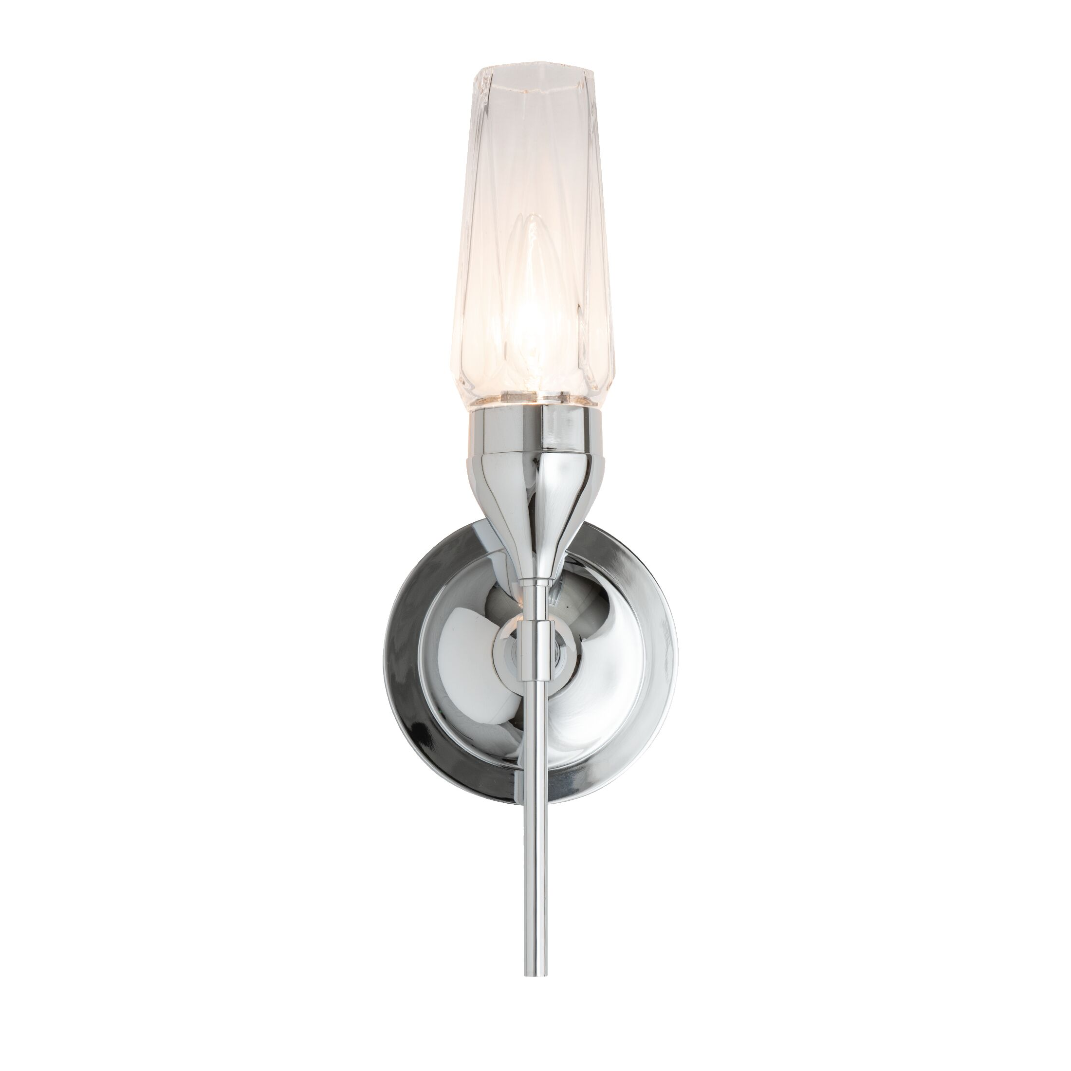 Thumbnail for Tulip Single Sconce with Crystal Glass