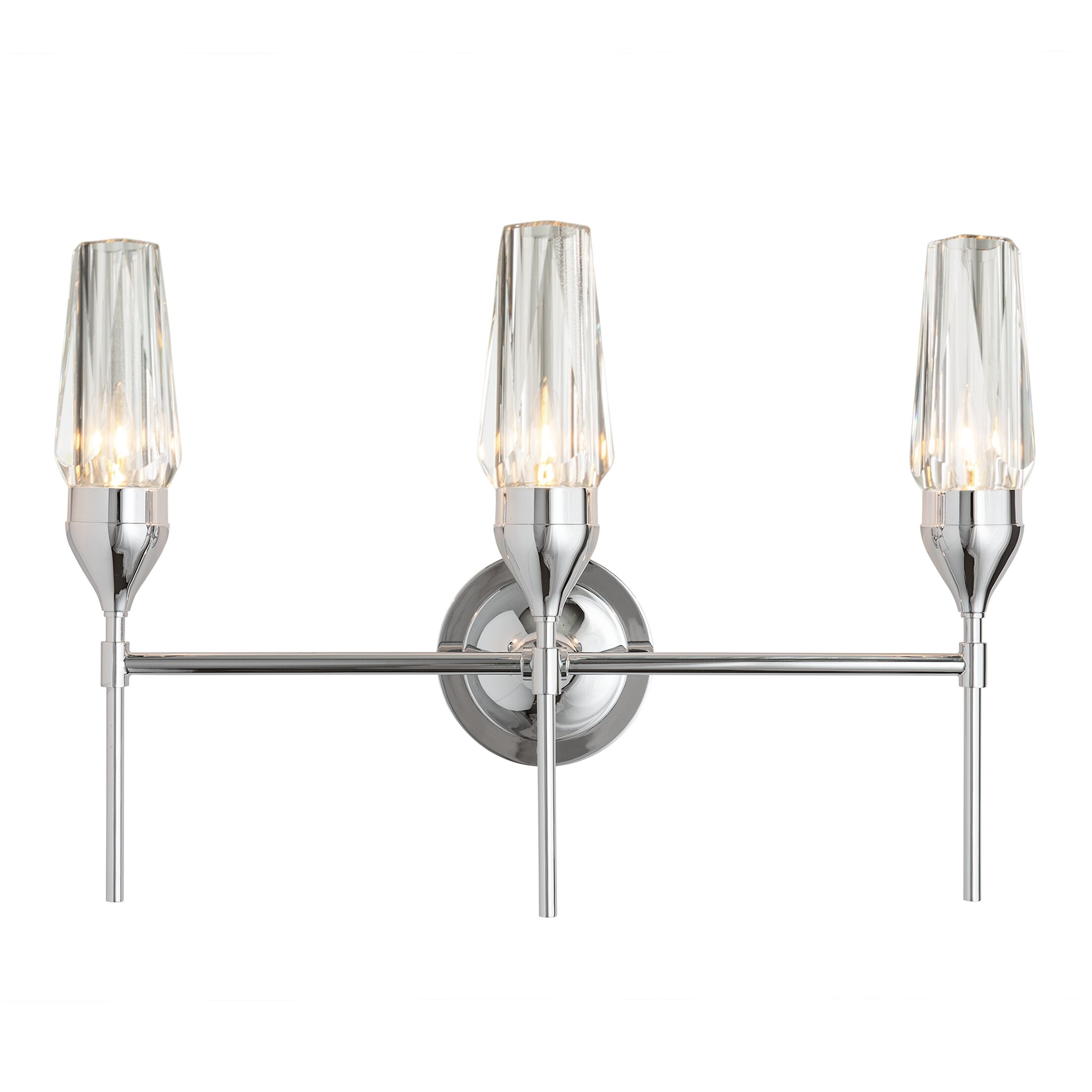 Thumbnail for Tulip Triple Sconce with Crystal Glass