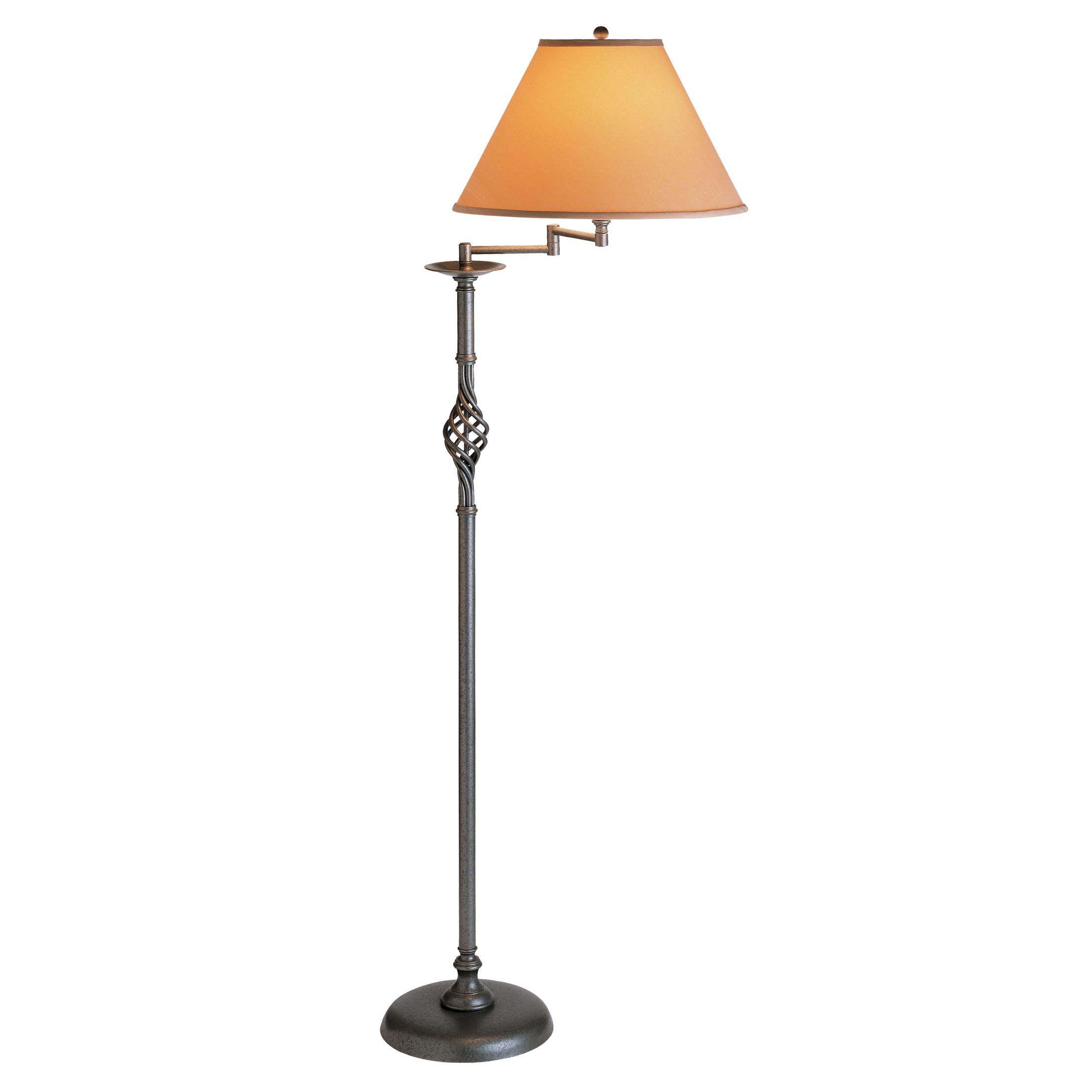 Thumbnail for Twist Basket Swing Arm Floor Lamp