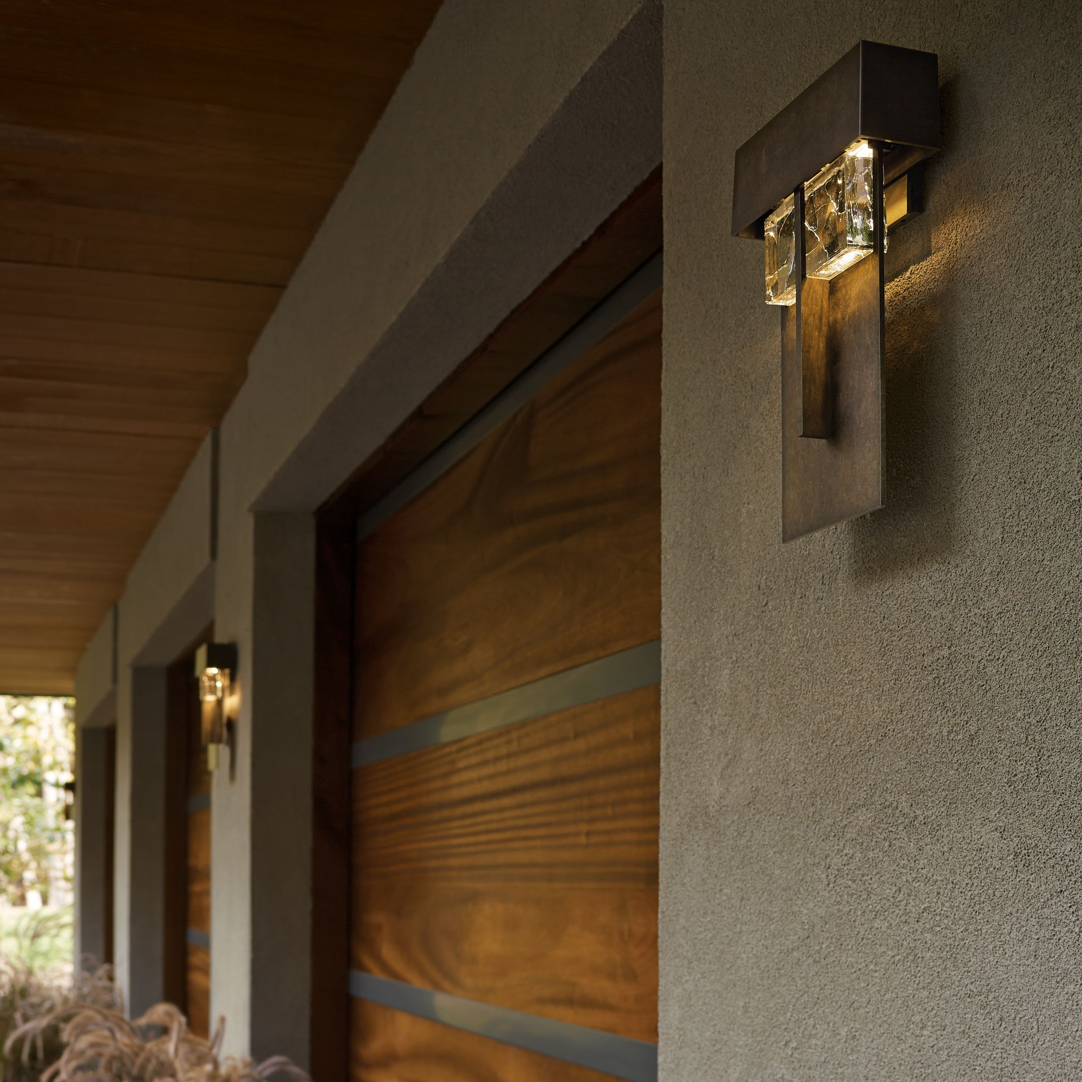 hubbardton sconce products shard large led forge outdoor