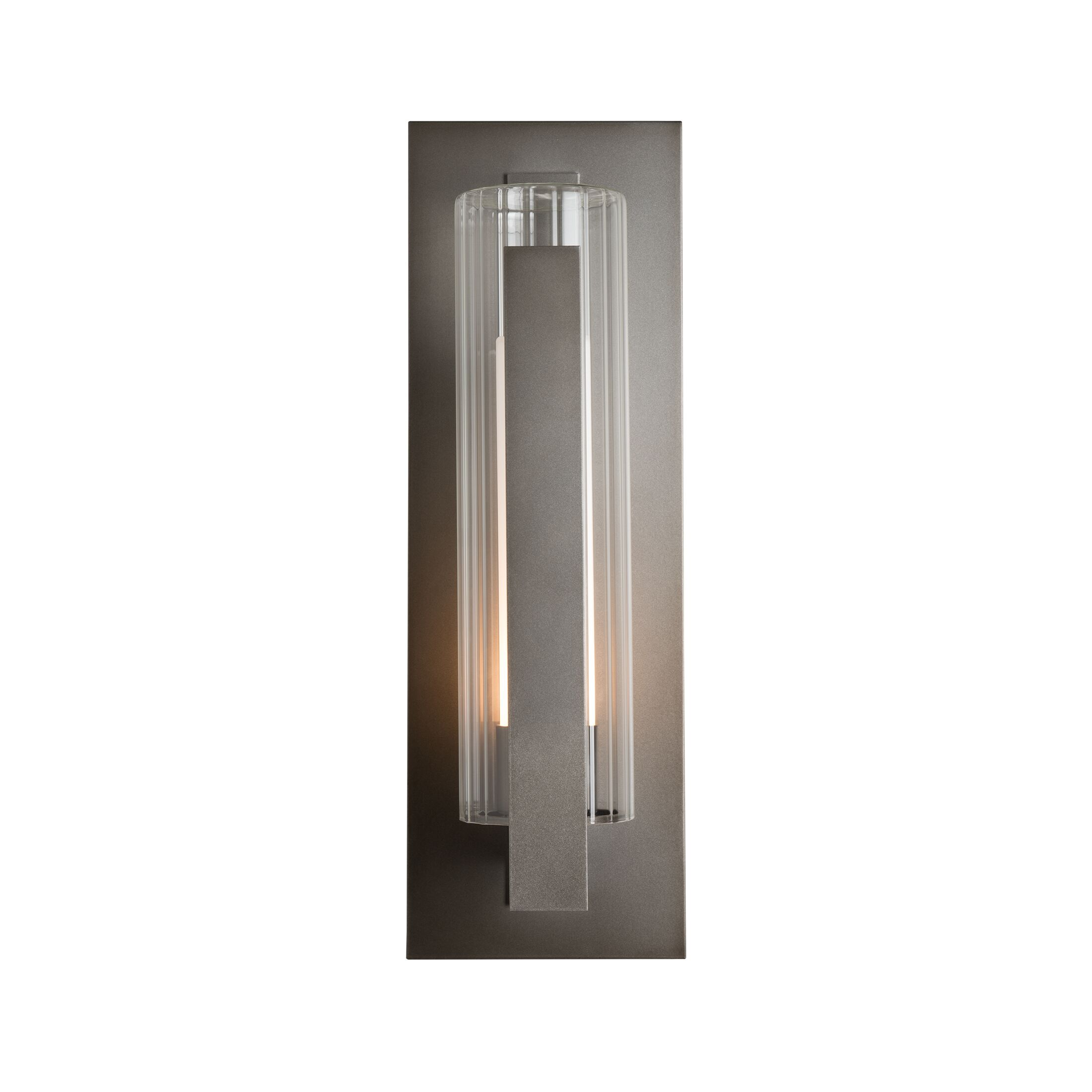 Thumbnail for Vertical Bar Fluted Glass Large Outdoor Sconce