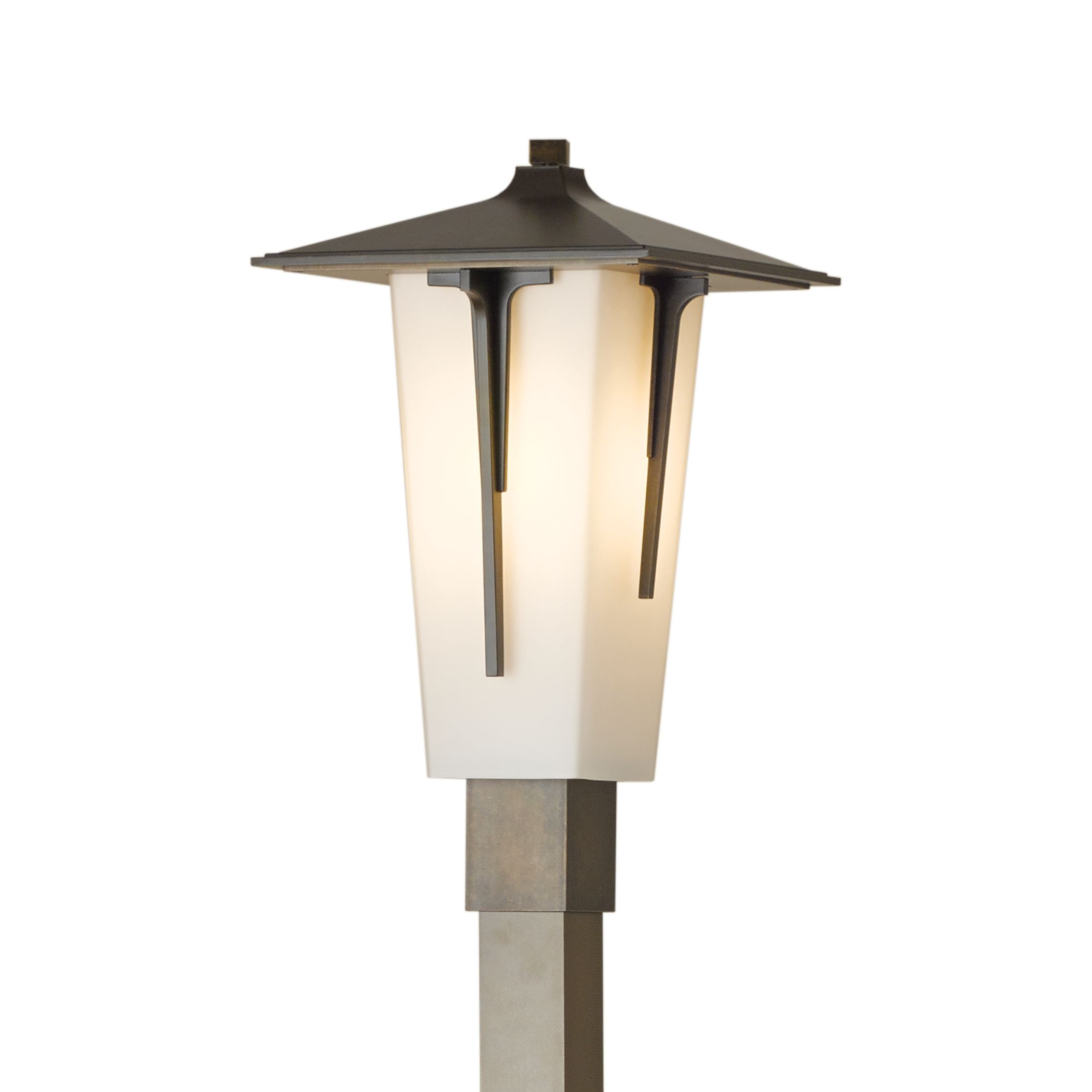 modern prairie outdoor post light hubbardton forge