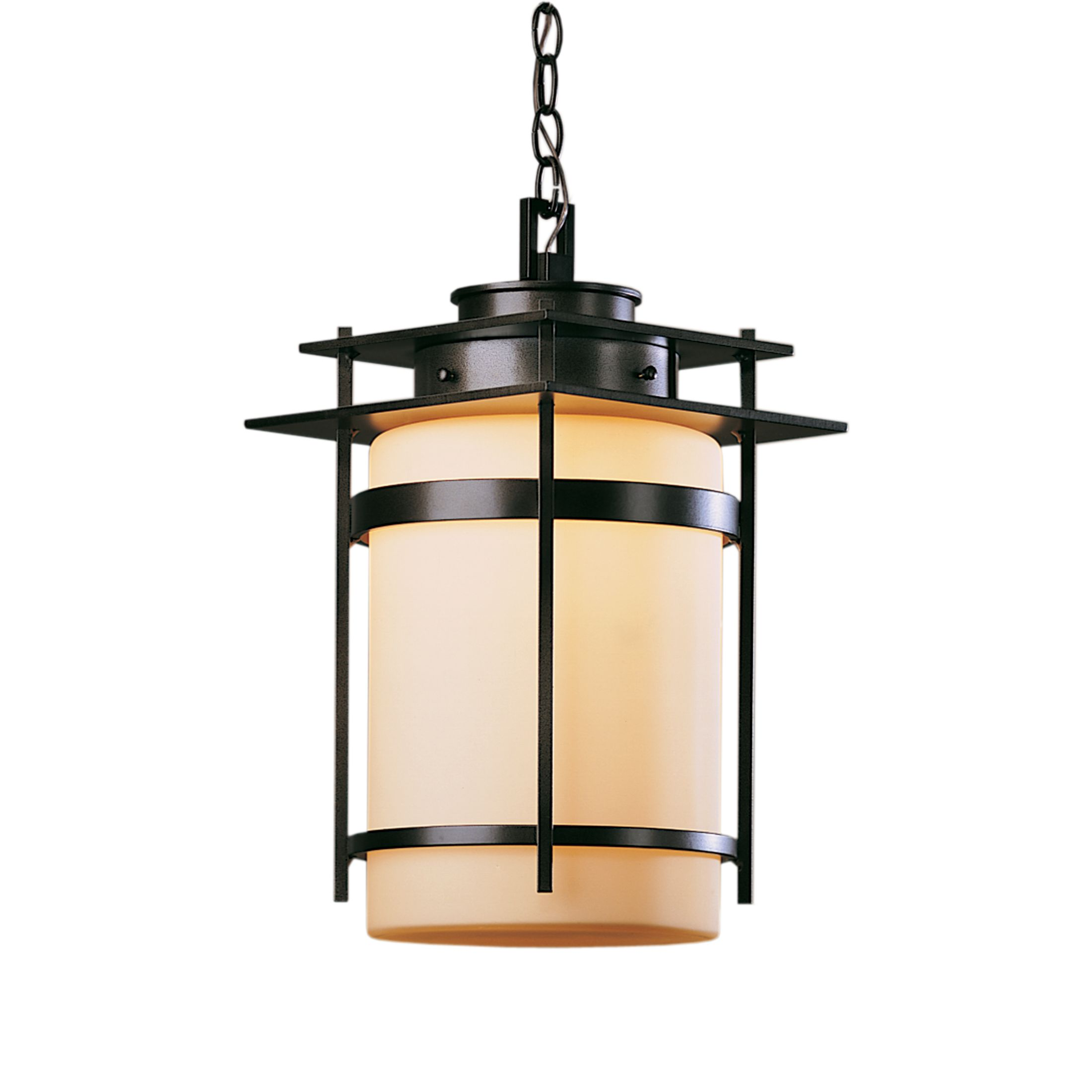 Hubbardton Forge Tourou: Banded With Top Plate Outdoor Sconce