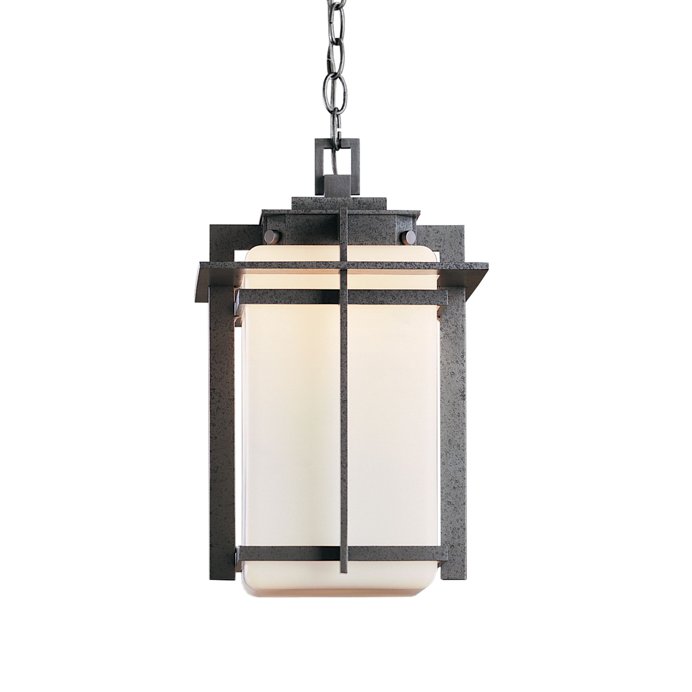 Hubbardton Forge Tourou: Banded Outdoor Post Light