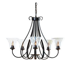 101454 Sweeping Taper 5 Arm Chandelier