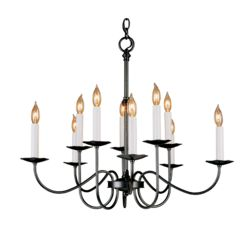102100 Simple Lines 10 Arm Chandelier