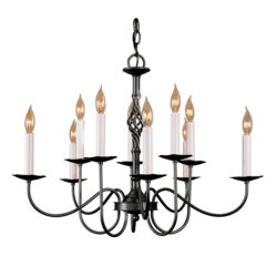 108100 Twist Basket 10 Arm Chandelier