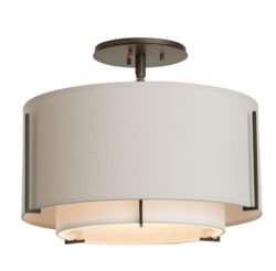 126501 Exos Small Double Shade Semi-Flush