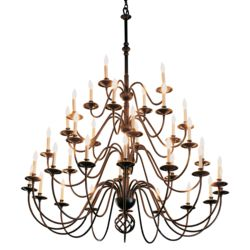 191572 Ball Basket 36 Arm Chandelier