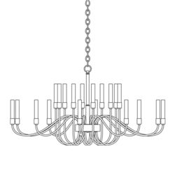 192043 Lisse 20 Arm Chandelier