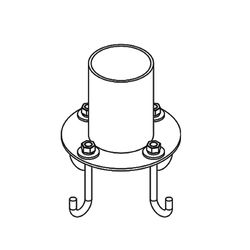 390013 Pier Mount Outdoor