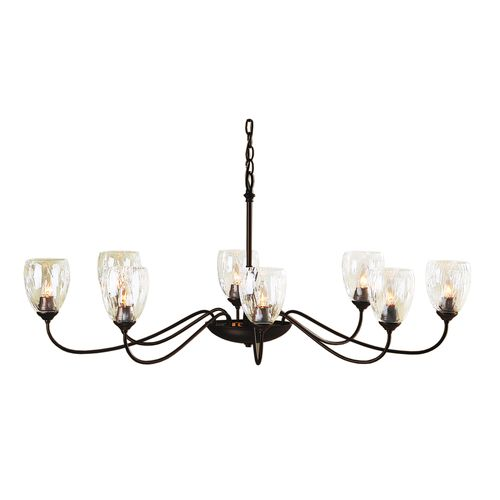 Hubbardton Forge Double Cirque Large: Oval Large 8 Arm Chandelier
