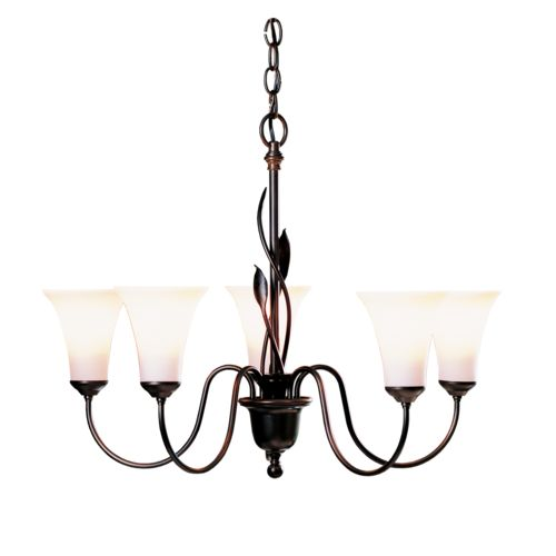 Product Detail: Forged Leaves 5 Arm Chandelier