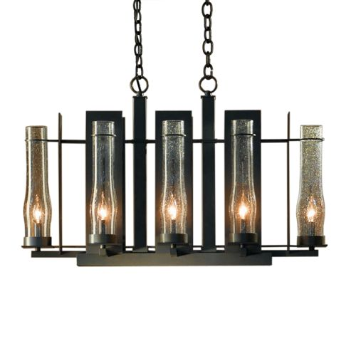 Hubbardton Forge Double Cirque Large: New Town Large 8 Arm Chandelier