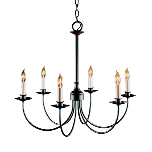 Product Detail: Simple Lines 6 Arm Chandelier