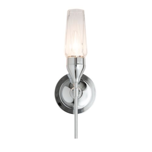 Product Detail: Tulip Single Sconce with Crystal Glass