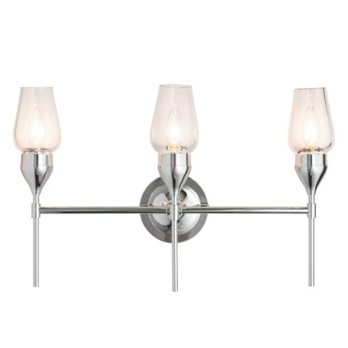 Product Detail: Tulip Triple Sconce with Thick Blown Glass