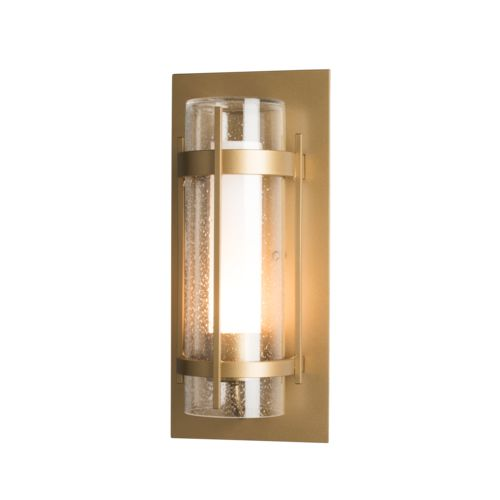 Product Detail: Banded Seeded Glass Outdoor Sconce