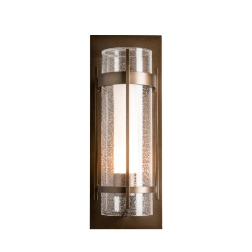 Product Detail: Banded Seeded Glass Large Outdoor Sconce