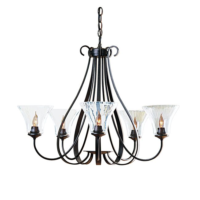 Product Detail: Sweeping Taper 5 Arm Chandelier