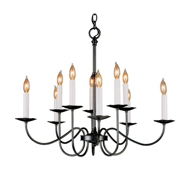 Product Detail: Simple Lines 10 Arm Chandelier