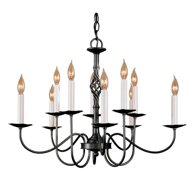 Product Detail: Twist Basket 10 Arm Chandelier