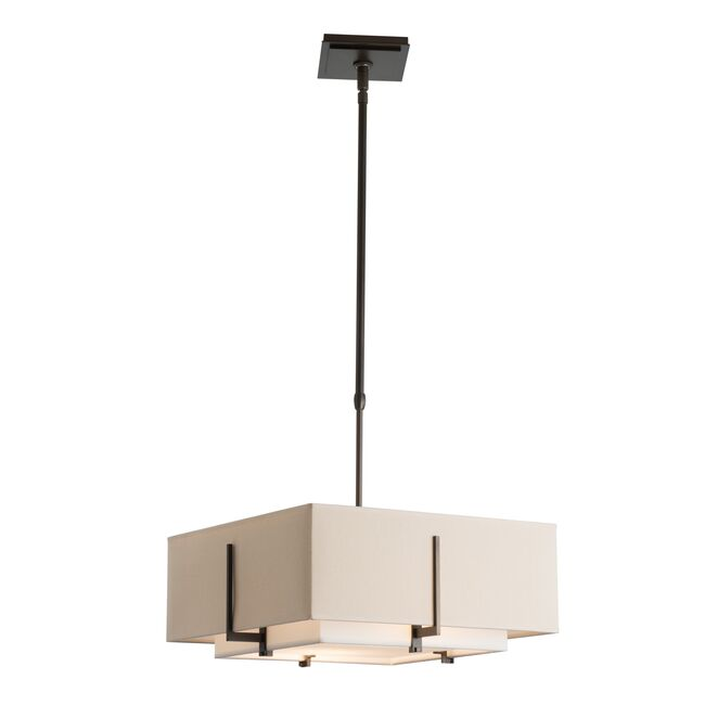 Product Detail: Exos Square Small Double Shade Pendant