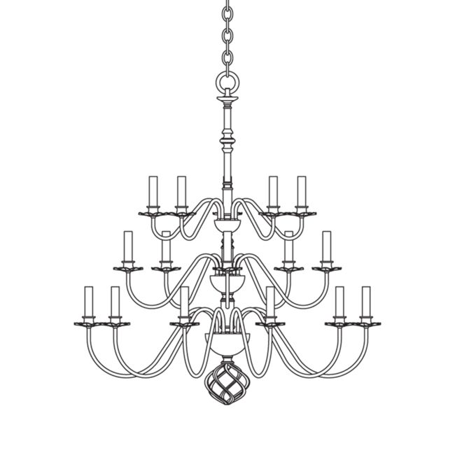 Product Detail: Ball Basket 20 Arm Chandelier