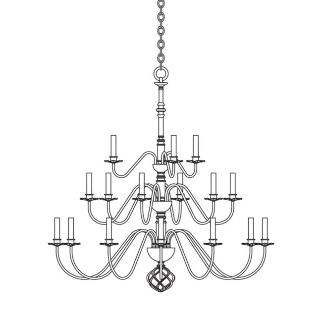 Product Detail: Ball Basket 21 Arm Chandelier