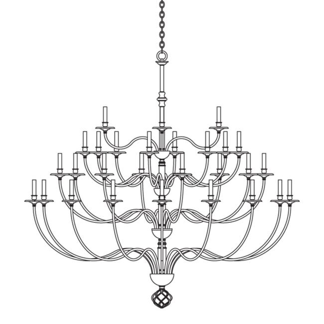 Product Detail: Ball Basket 36 Arm Chandelier