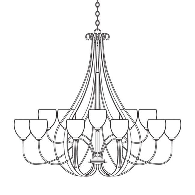 Product Detail: Sweeping Taper 15 Arm Chandelier