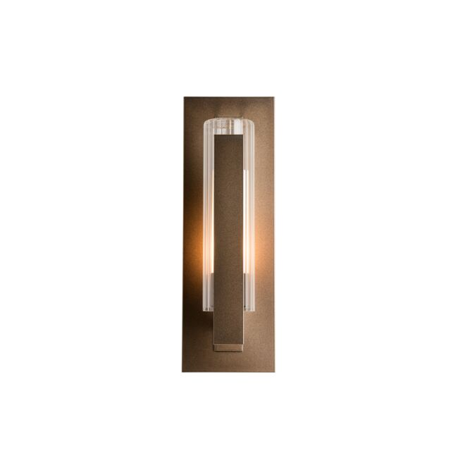 Product Detail: Vertical Bar Fluted Glass Small Outdoor Sconce