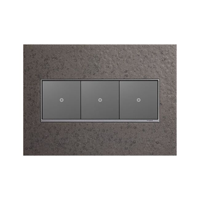 Product Detail: Legrand Hubbardton Forge 3 Gang Wall Plate