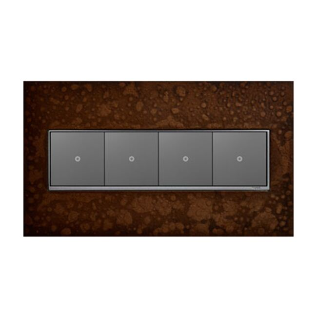 Product Detail: Legrand Hubbardton Forge 4 Gang Wall Plate