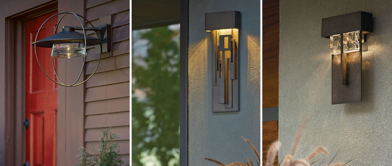 Outdoor lighting by Hubbardton Forge