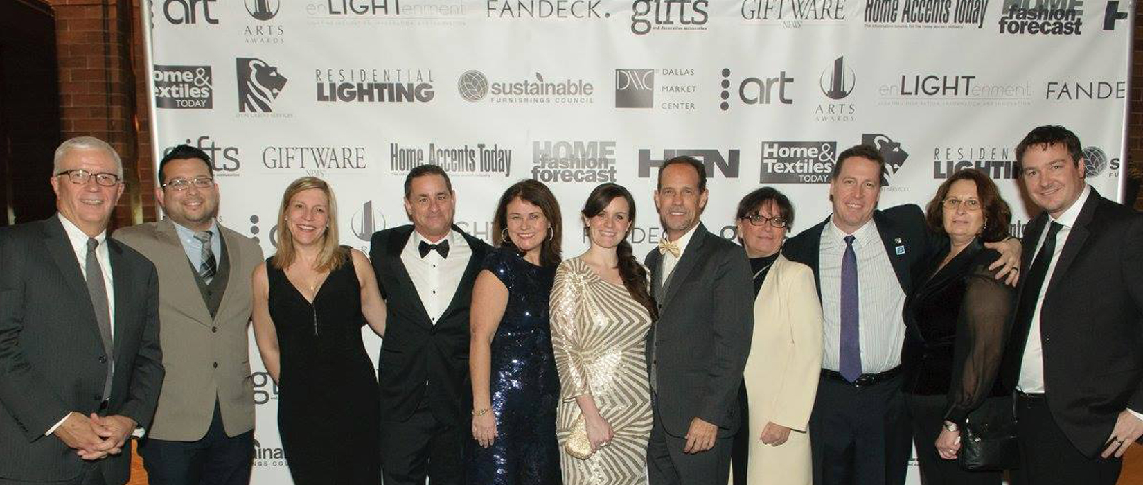 An exuberant team from Hubbardton Forge at the 27th Annual ARTS Awards in Dallas