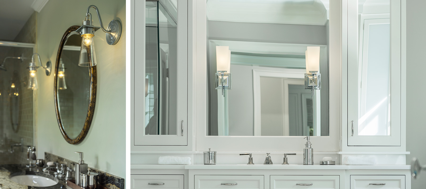 Hubbardton Forge Reflections- bath sconces