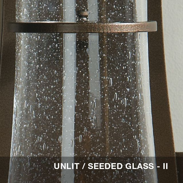 Unlit - Seeded glass swatch