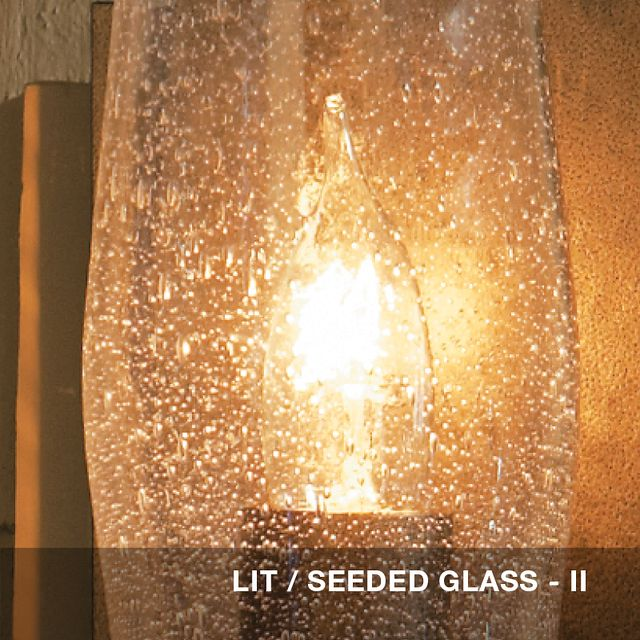 Lit - Seeded glass swatch