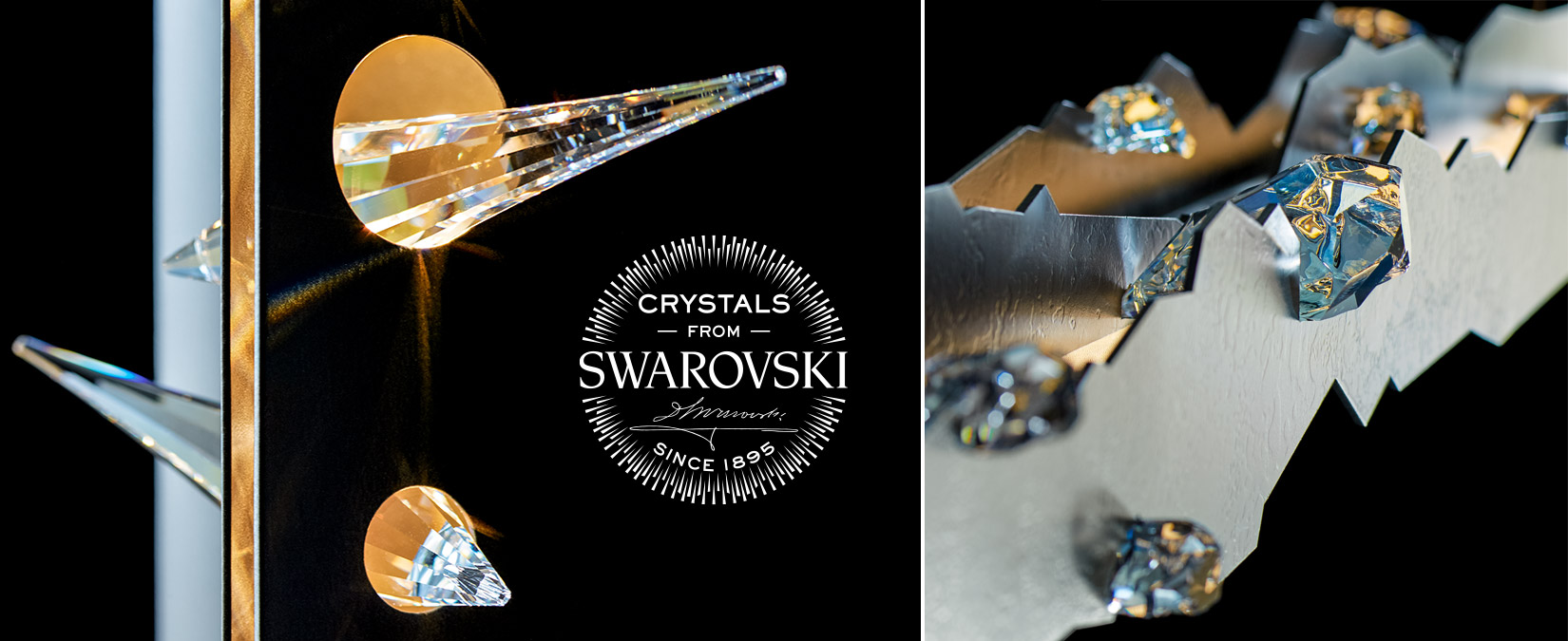 Lighting with Swarovski crystals