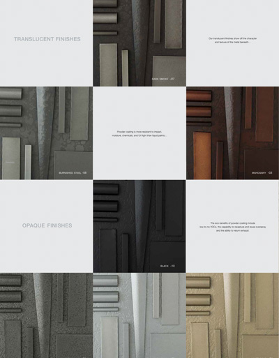 Finish and Swatch Brochure